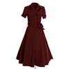 cheap china wholesale clothing pluz size summer cotton purple short sleeve dress