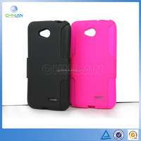 High quality PC Siliconen Skin Dream Mesh Design Mobile Phone Protection Combo Case For LG L70 D320