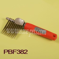 strong pet dog comb, dog grooming with stainless steel pin