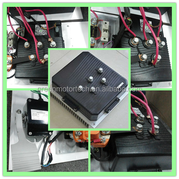 17.5KW 96V Electric rickshaw kit for pure three wheel vehicle, AC driving systems