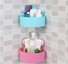 Plastic suction cup bathroom shelf rack