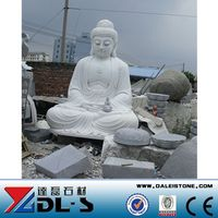 Made In China Natural Stone White Marble Buddha Statue