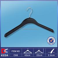 Wholesale deluxe round thick plastic coat hanger with metal hook C66