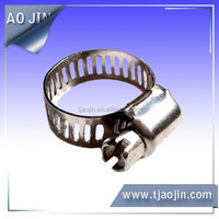 Small stainless steel hose clamp
