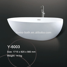 Domo de tamaño personalizado de acrílico superficie sólida bañera / resina de piedra bañeras