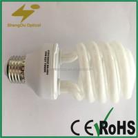 OEM quality energy saving lighting bulbs half spiral with E27 E14 B22 base type