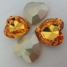 28x28 Light topaz heart shaped crystal stone in dresses and bags