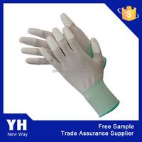 2015 Cheap Economic 13G Palm Coated PU Safety Gloves
