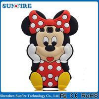 Korean cartoon mickey mouse case for samsung galaxy s4, 3d silicone case for samsung galaxy s4 i9500