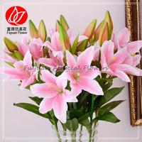 150430 wholesale artificial tiger lily flower for flower arrangement and wedding decoration flores artificiales