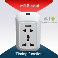 Wireless Switch Outlet with Smart Home Automation Phone App Control light fixture with electrical outlet