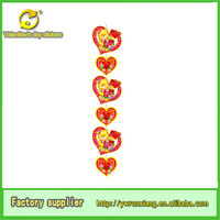 indian heart paper Hanging Decorative Wedding Party Decoration from chipboard