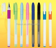 Wholesale cheap office school student multi color ink pen plastic gel pen