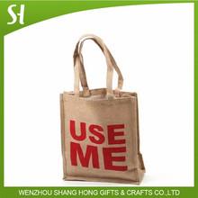 Venta al por mayor de arpillera de yute de regalo bolsas de sacos / bolsas de yute arpillera ( yute ) vino de