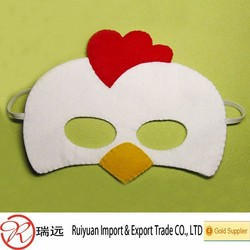 Wholesale Kits Funny Animal Stage Play Felt Mask With Elastic Band