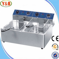 Good quality high efficiency double commercial deep chip fryer