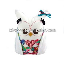 Top quality cartoon owl cushion pillow,cartoon washable pillows