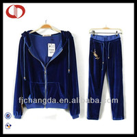100% Polyester high quality designer jogging suits for women