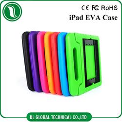Kids foam case with handle for iPad, EVA waterproof protective case for iPad 2 3 4