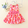 Summer polk dot baby dress chover cotton flower printing dress lovely girls chevron prints dresses
