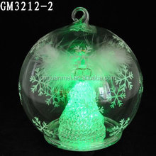 2015 wholesale fashion blown glass ball hanging glass for christmas decoration
