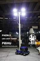 5M height, Power 4X400W Mobile Light Tower/tower light
