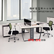 Modern furniuture 2 person workstation layout/acrylic office partition