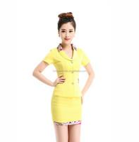 2015 Hot Sale Elegant Hotel Uniform Office Suits/Lobby Reception Uniform For Ladies