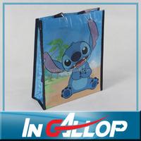 cheap good quality green non-woven fabrics shopping bag