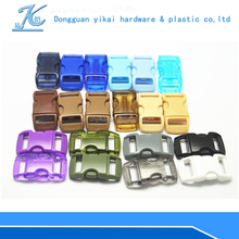 high quality 3/8 curved plastic buckle clip,buckle for backpack and bracelet,3/8 curved side release buckles