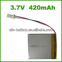 3.7v 420mAh lithium ion battery,lithium battery,lithium ion car battery with PCB/PCM JST connector for USA