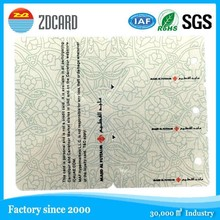 fashionable custom size plastic hole punched printing die cut card/irregular card/pvc card (factory suppier)