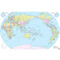 globos terráqueos político de impresión de la pared mapa del mundo