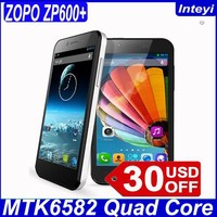Original ZOPO ZP600+ MTK6582 Quad Core 4.2 Inch Touch Scree 1GB RAM 4GB ROM Andriod 4.2 Dual Sim Mobile ZOPO mobile