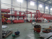 12T China made waste tyre plastic rubber pyrolysis plant for oil