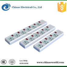 Individual On/Off switches 6 Outlet sockets outlet extension