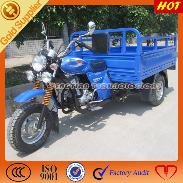 gasoline 3 wheel cargo tricycle for adults/Chiese three wheel motorcycle/top motorized cargo tricycle for heavy carrying