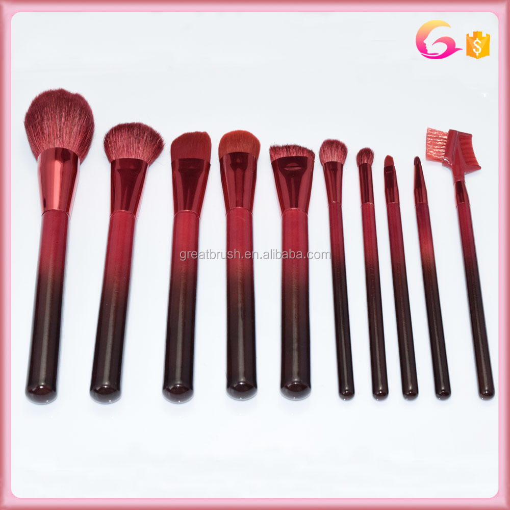 Beauty Tool brush Set Brush Cosmetic Natural makeup set natural  10PCS Makeup Hair