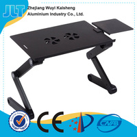Silver color laptop stand with 5V USB fans for the 17 inch laptop
