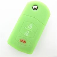 Custom car key remote control cover silicone car key protective sleeve for mazda