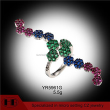 fashionable colorful jewelry silver 925 micropave jewelry