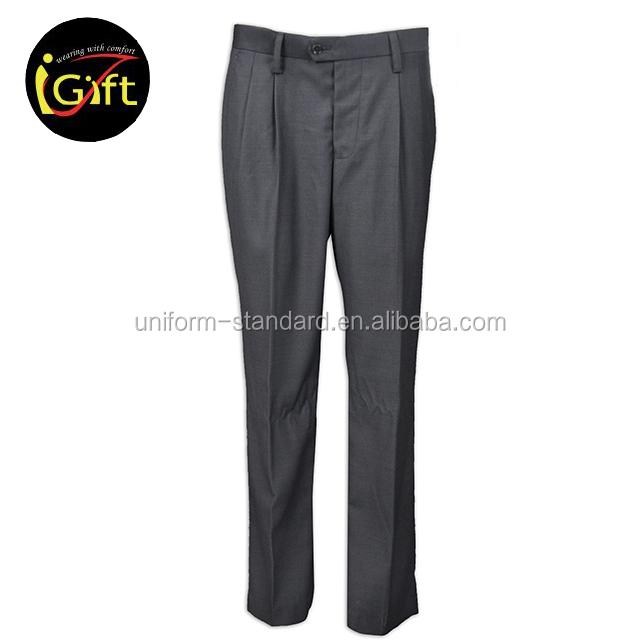 Élégant pantalon de costume société toile de merceriser hommes robe pantalon