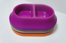 Colorful 35cm Water And Food Plasic Dog Bowl-Factory sale !
