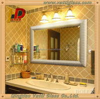 shandong qingdao high quality tempered mirror glass/sheet glass prices mirror on sale