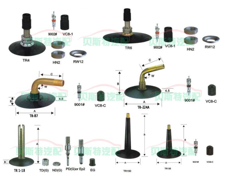 Tire tube valve stem types  ford cars