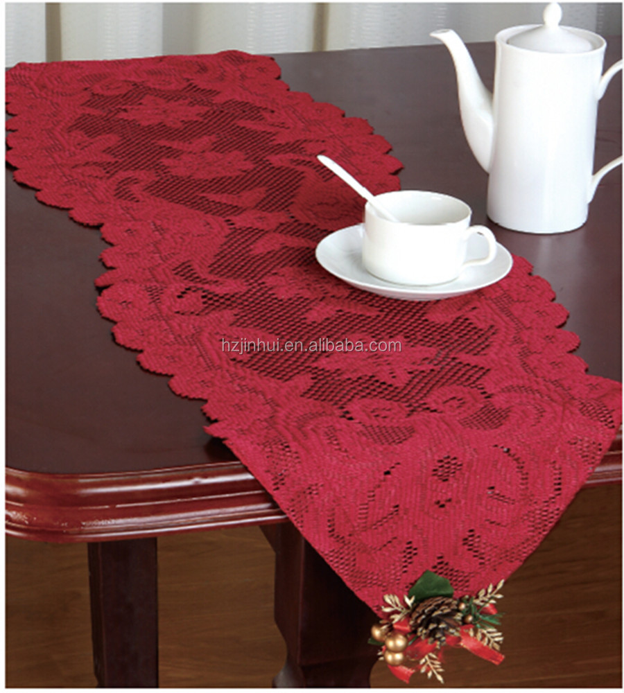 Table  runner christmas Fancy Lace Ornament Runner Christmas ornament With 33x114CM Tassels table