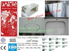 Free maintance super white nano glass vanity tops
