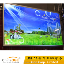 Advertising large screen backlit fabric led light box with printed poster