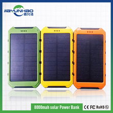cell phone charger good quality fast delivery shenzhen factory led torch light solar 8000mah power bank charger