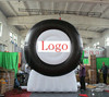 2015 Hot sale advertising giant inflatable tyre for sale can print logo